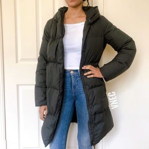 Jcrew puffer belted coat small CT